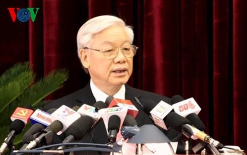 В Ханое открылся 12-й пленум ЦК Компартии Вьетнама 11-го созыва - ảnh 1