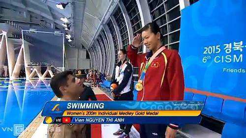 Нгуен Тхи Ань Виен завоевала золотую медаль на Всемирных спортивных военных играх-2015 - ảnh 1