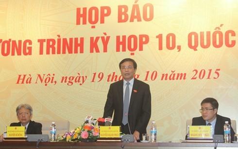 На 10-й сессии Парламента Вьетнама 13-го созыва будет обсужден ряд новых вопросов - ảnh 1