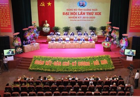 Открылась 19-я партконференция провинции Куангнгай на период 2015-2020 гг. - ảnh 1