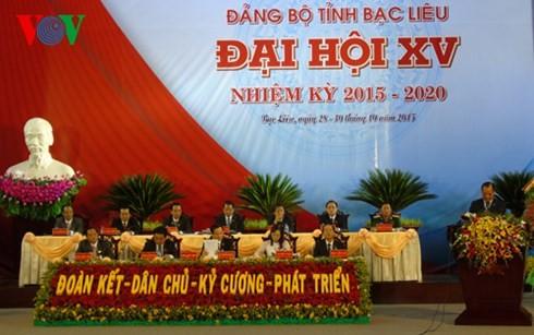 Открылись партконференции провинций Баклиеу, Шокчанг и Лангшон на 2015-2020 гг. - ảnh 1