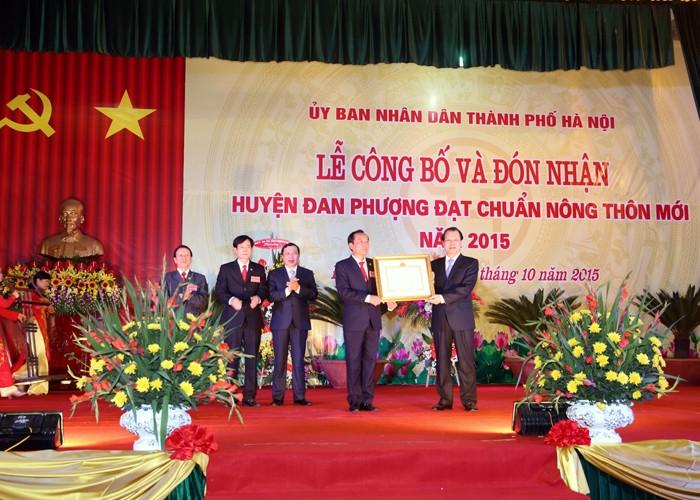 Уезд Данфыонг признан завершившим строительство новой деревни - ảnh 1