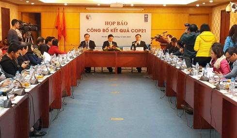В Ханое прошла пресс-конференция по итогам 21-й конференции ООН по изменению климата - ảnh 1