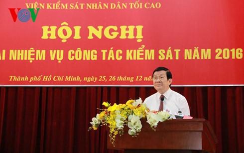 Конференция по выполнению прокурорской работы Вьетнама на 2016 год - ảnh 1