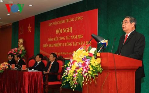 Отдел по внутриполитическим делам ЦК КПВ провел конференцию по определению задач на 2016 г. - ảnh 1