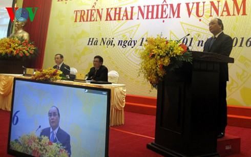 Канцелярия правительства Вьетнама провела конференцию по выполнению задач на 2016 год - ảnh 1