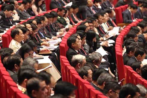 На 12-м съезде КПВ обсудили документы и заслушали доклады - ảnh 1