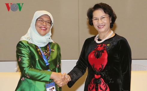 Нгуен Тхи Ким Нган встретилась с главой сингапурского парламента - ảnh 1