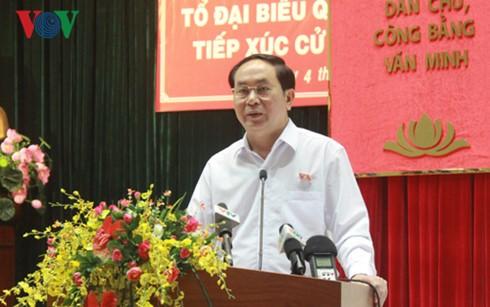 Президент Вьетнама встретился с избирателями города Хошимин - ảnh 1