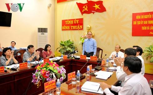 Глава ОФВ провёл рабочую встречу с руководством провинции Биньтхуан - ảnh 1