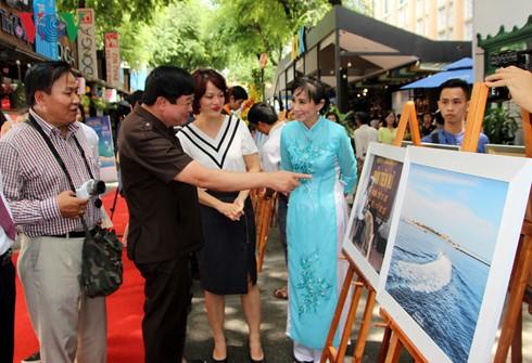 В г.Хошимине открылась фотовыставка «Чыонгша – место, где я побывала» - ảnh 1