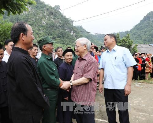 Генсек ЦК КПВ Нгуен Фу Чонг совершил рабочую поездку в провинцию Баккан - ảnh 2