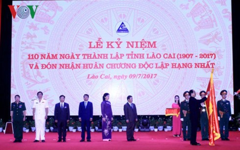 Президент СРВ: Провинция Лаокай должна превратиться в развитую провинцию на Северо-Западе страны - ảnh 1