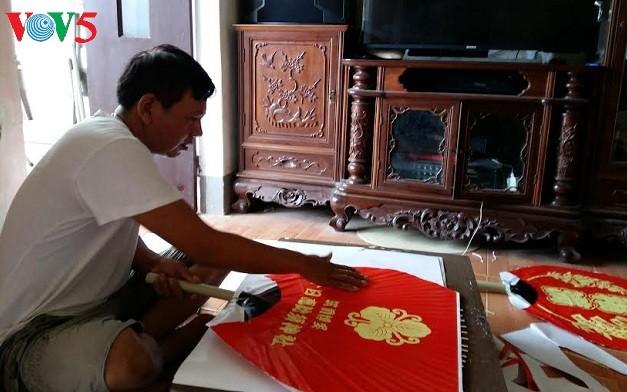 Промысел по изготовлению вееров в деревне Тянгшон - ảnh 1