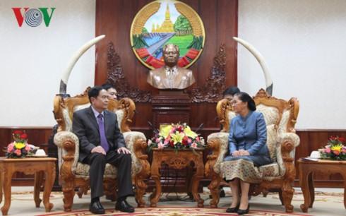 Спикер парламента Лаоса приняла делегацию ЦК Отечественного фронта Вьетнама - ảnh 1