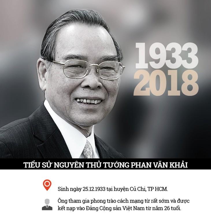 Во Вьетнаме объявлен национальный траур в связи с кончиной бывшего премьер-министра Фан Ван Кхая