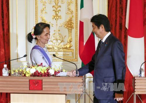 Aung San Suu Kyi obtient 7,7 milliards de dollars d'aide du Japon - ảnh 1