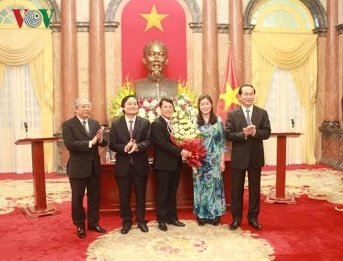 Tran Dai Quang rencontre les professeurs nouvellement nommés - ảnh 1