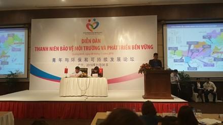 Les jeunes vietnamiens et chinois oeuvrent pour l'environnement - ảnh 1
