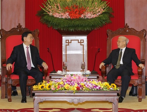Nguyen Phu Trong reçoit Zhang Dejiang - ảnh 1
