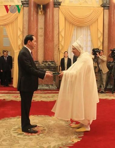 Le président Tran Dai Quang rencontre les nouveaux ambassadeurs - ảnh 1