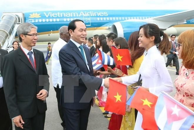 Tran Dai Quang répond aux questions des journalistes sur sa visite à Cuba - ảnh 1