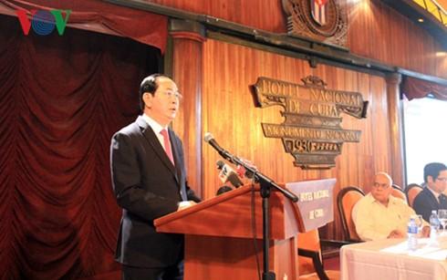 Tran Dai Quang au Forum d'entreprises Vietnam-Cuba - ảnh 1
