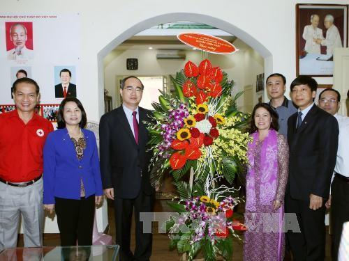 70 ans de la Croix Rouge du Vietnam : Nguyen Thien Nhan formule ses voeux - ảnh 1