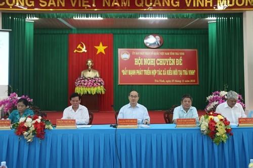 Nguyen Thien Nhan préside une conférence sur les coopératives de type nouveau - ảnh 1