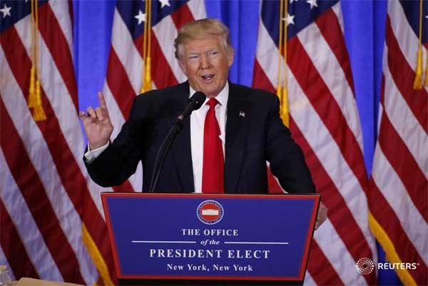 Première conférence de presse de Donald Trump - ảnh 1