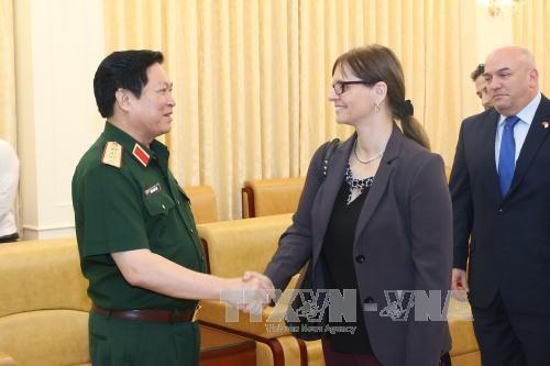 Le ministre vietnamien de la Défense reçoit l'ambassadrice israélienne - ảnh 1