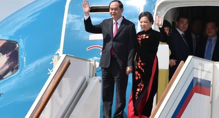 Tran Dai Quang entame sa visite en Russie - ảnh 1