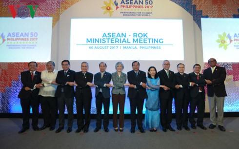 AMM 50: les pays interlocuteurs apprécient le rôle et la coopération de l'ASEAN - ảnh 1