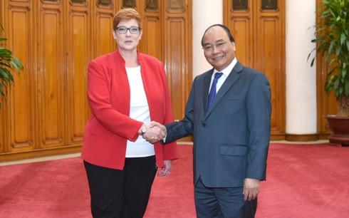 La ministre australienne de la Défense reçue par Nguyen Xuan Phuc - ảnh 1