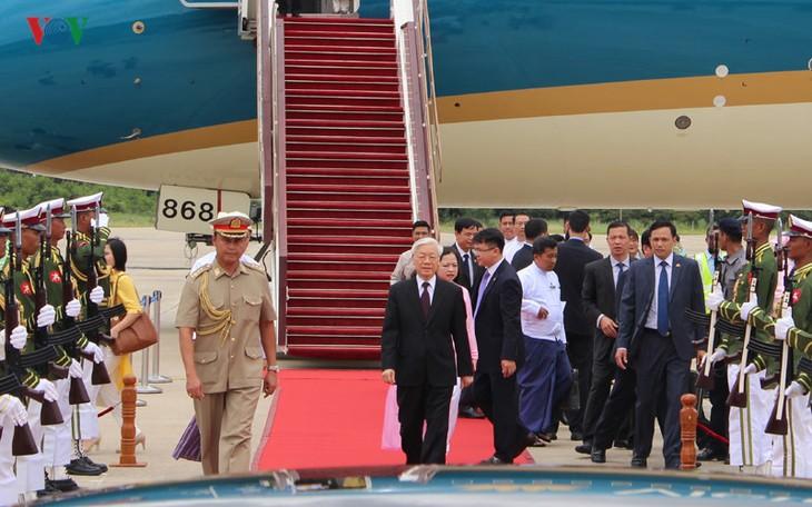 La relation vietnamo-birmane portée au niveau de partenariat intégral - ảnh 1