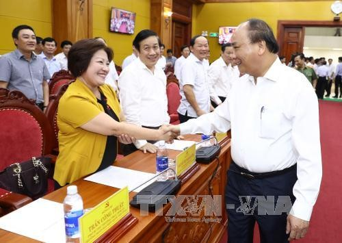 Nguyen Xuan Phuc travaille avec les autorités de Quang Binh - ảnh 1