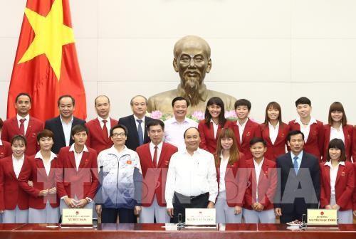 Le PM félicite les sportifs vietnamiens aux SEA GAMES 29 - ảnh 1