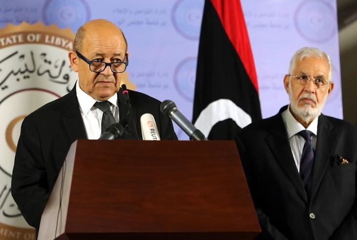 Libye: Le Drian souligne l'engagement de la France pour résoudre la crise  - ảnh 1