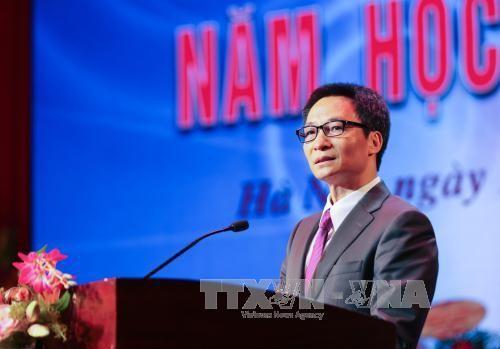 Vu Duc Dam à la rentrée scolaire de l'Université de théâtre et de cinéma de Hanoï - ảnh 1