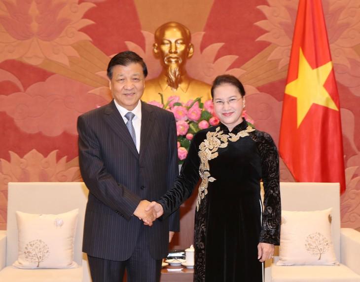 Nguyen Thi Kim Ngan reçoit Liu Yunshan - ảnh 1