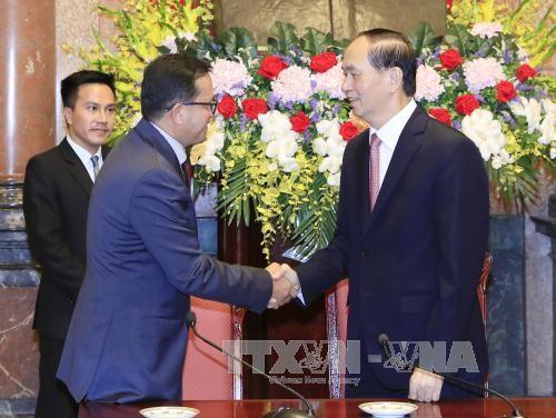Le président Tran Dai Quang reçoit des responsables internationaux de la Croix-rouge - ảnh 1