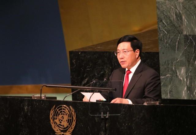 Activités de Pham Binh Minh en marge de la 72ème Assemblée générale de l'ONU - ảnh 1