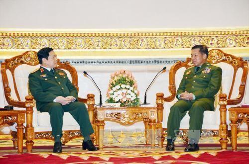 Renforcement des relations Vietnam-Myanmar dans la défense - ảnh 1