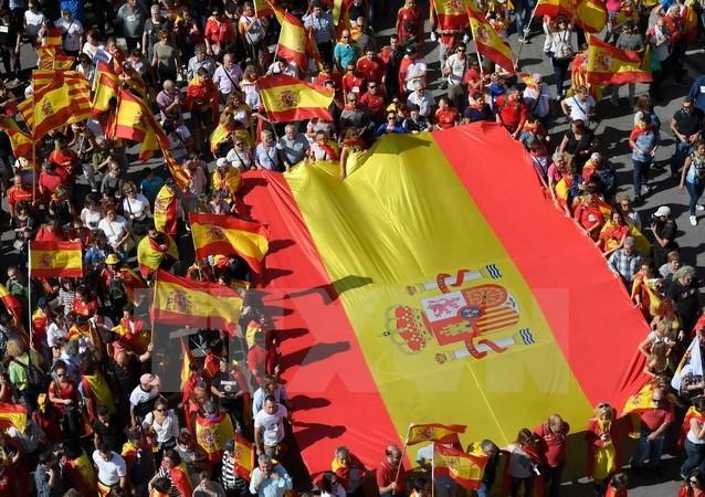 Catalogne : manifestations annoncées contre la détention de deux dirigeants indépendantistes - ảnh 1