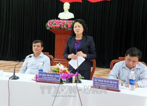 Dang Thi Ngoc Thinh au chevet des habitants de Quang Nam - ảnh 1