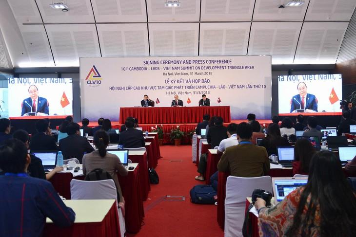 Déclaration commune du 10e sommet Cambodge-Laos-Vietnam - ảnh 1