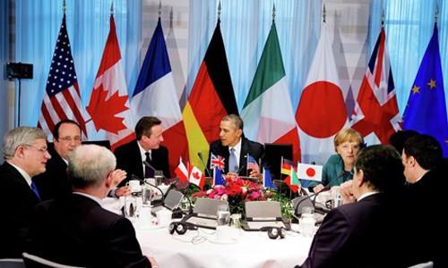 """សន្តិសុខនាវាចរណ៍""""ក្តៅគគុក""""លើតុចរចាររបស់ក្រុម G7 - ảnh 1"""