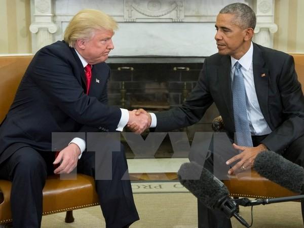ប្រធានាធិបតីអាមេរិកលោក B. Obama អំពាវនាវឲ្យលោក D. Trump ផ្ញើសារសាមគ្គីភាពក្រោយពីការបោះឆ្នោត - ảnh 1