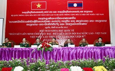 Tình đoàn kết chiến đấu giữa quân đội Việt Nam-Lào mãi trường tồn  - ảnh 1