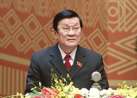 Chủ tịch nước Trương Tấn Sang tiếp Đại diện Thương mại Hoa Kỳ Michael Froman - ảnh 1